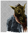 Cartoon: donkey (small) by jenapaul tagged donkey,animal,human,people