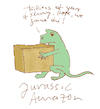 Cartoon: jurassic amazon (small) by jenapaul tagged dinsosaurs,amazon,digital,world,work