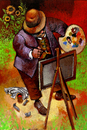 Cartoon: IMPRESSIONIST (small) by Wiejacki tagged painter art painting picture colors brush