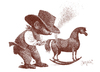Cartoon: Little cowboy (small) by Wiejacki tagged boy,spiel,knabe,play