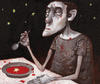 Cartoon: Stars (small) by Wiejacki tagged diner,food,soup,tomato,stars,astronomy