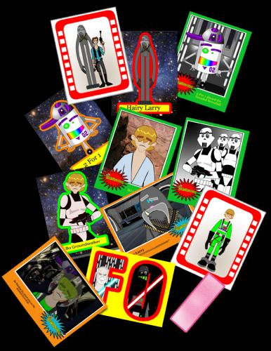 Cartoon: Space Wars cards (medium) by Jo-Rel tagged dirtbagtoons
