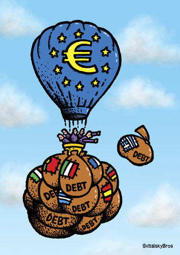 Euro And The Debt By Svitalsky Business Cartoon Toonpool