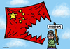Cartoon: Freedom in China (small) by svitalsky tagged china freedom flag dissident demonstrant liberty cartoon svitalsky svitalskybros