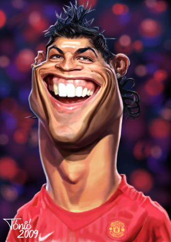Cartoon: Christiano Ronaldo (medium) by Tonio tagged christiano,ronaldo,portugal,manchester,united,soccer,football,caricatur,karikatur