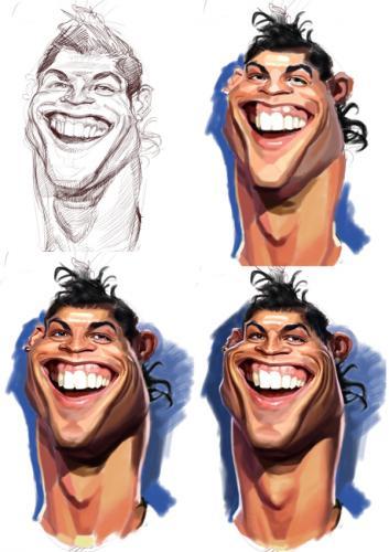 كاريكاتير كريستيانو رونالدو  ههههه  صور جد مضحكة