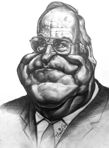Cartoon: Helmut Kohl (medium) by Tonio tagged caricature,portrait,politician
