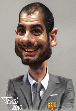 Cartoon: Joseph Guardiola FC Barcelona (medium) by Tonio tagged football