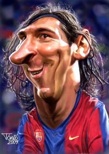 Cartoon: Lionel Messi FC Barcelona (medium) by Tonio tagged division,primera,league,spanish,forward,sports,argentina,barcelona,fc,portrait,karikatur,caricature,messi,lionel,soccer,football