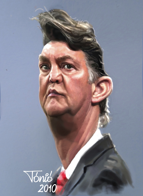 Cartoon: Louis van Gaal (large) by Tonio tagged trainer,coach,bayern,münchen,holland,dutch,ajax,amsterdam