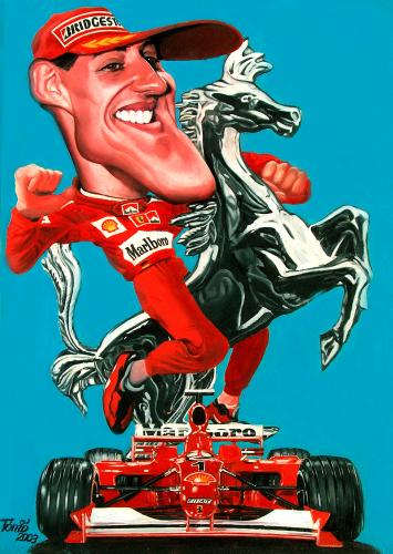 Michael Schumacher By Tonio Sports Cartoon Toonpool
