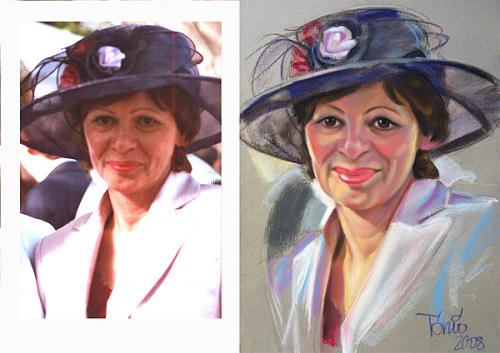 Cartoon: pastell portrait after photo (medium) by Tonio tagged pastell,portrait,after,photo,order,color,farbig