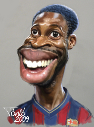Cartoon: Seydou Keita FC Barcelona (medium) by Tonio tagged midfielder,football