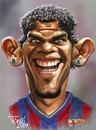 Cartoon: Dani Alves (small) by Tonio tagged daniel,alves,fc,barcelona,brasil