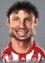 Cartoon: Marc van Bommel FC Bayern (small) by Tonio tagged dutch,holland,soccer,football,nationalmanschaft,münchen,karikatur,fussball