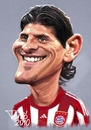 Cartoon: Mario Gomez FC Bayern (small) by Tonio tagged deutsch international german soccer football nationalmanschaft münchen karikatur fussball