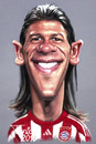 Cartoon: Martin Demichelis FC Bayern (small) by Tonio tagged munich,münchen,argentin,nationalelf,football,fussball