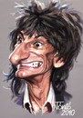 Cartoon: Ron Wood The Rolling Stones (small) by Tonio tagged music,rock,and,roll,blues,english