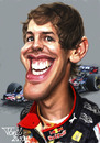 Cartoon: Sebastian Vettel (small) by Tonio tagged german deutsch formula1 red bull racing hockenheim