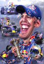 Cartoon: Sebastian Vettel 2011 poster (small) by Tonio tagged formula1