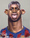 Cartoon: Yaya Toure FC Barcelona (small) by Tonio tagged football,midfielder