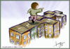 Cartoon: alone cities (small) by recepboidak tagged play,kids,city,cities