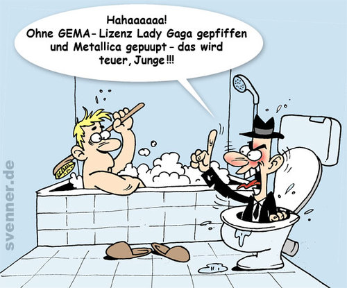 Cartoon: GEMA Stress (medium) by svenner tagged cartoon,gema