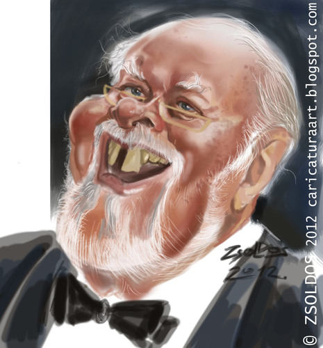 Cartoon: Sir Richard Ettenborough (medium) by zsoldos tagged famous,people