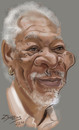 Cartoon: Morgan Freeman (small) by zsoldos tagged actor,famous,people