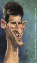 Cartoon: Novak Djokovic (small) by zsoldos tagged tennis,famous,people,ball
