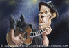 Cartoon: Tom Waits (small) by zsoldos tagged blues,music