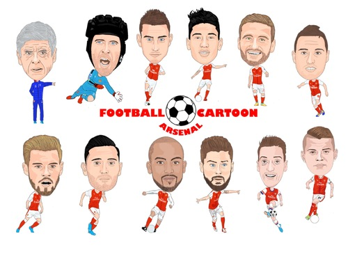 Cartoon: Arsenal Team (medium) by Vandersart tagged arsenal,cartoons,caricatures