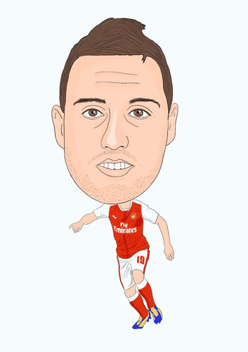 Cartoon: Cazorla Arsenal (medium) by Vandersart tagged arsenal,cartoon,caricature