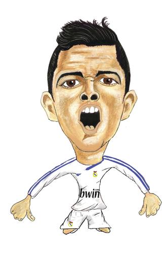 Cartoon  Ronaldo Real Madrid  Medium  By Vandersart Tagged Ronaldo