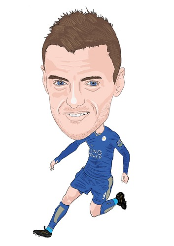 Cartoon: Vardy Leicester (medium) by Vandersart tagged leicester,cartoons,caricatures