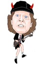 Cartoon: Angus Young ACDC (small) by Vandersart tagged acdc,cartoons,caricatures