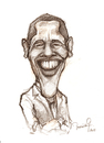 Cartoon: Barack Obama (small) by veve tagged caricature portrait pencil drawing