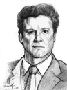 Cartoon: Colin Firth (small) by Vera Gafton tagged portrait pencil drawing