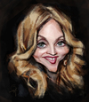 Cartoon: Madonna (small) by Vera Gafton tagged madonna,caricature,portrait,digital,color,singer,artist,celebrity