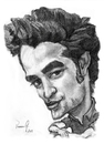 Cartoon: Robert Pattinson (small) by Vera Gafton tagged caricature,portrait,pencil,drawing