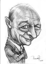 Cartoon: Traian Basescu (small) by Vera Gafton tagged caricature,portrait,pencil,drawing