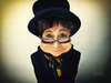 Cartoon: Yoko Ono (small) by Vera Gafton tagged caricature,musician,famous,celebrity,avant,garde,band,experimental,art,piano,peace