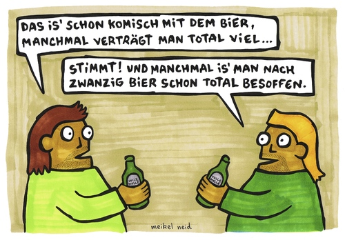 Cartoon: bier (medium) by meikel neid tagged bier,pils,molle,alkohol,trinken