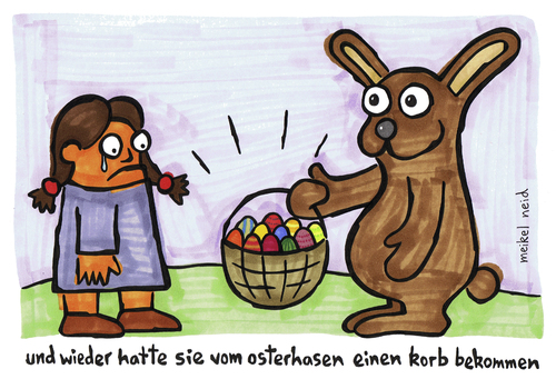 Cartoon: korb vom hasen (medium) by meikel neid tagged ostern,hase,korb,eier,suche