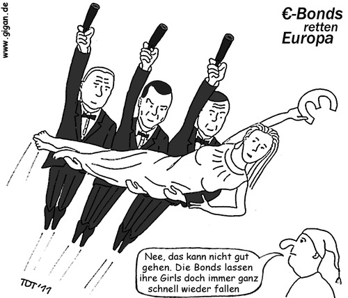 Cartoon: Eurobonds retten Europa (medium) by TDT tagged eurobonds,james,bond,007,roger,moore,sean,connery,daniel,craig,europa,michel,euro,krise,schulden,eurokrise,schuldenkrise,rettungspaket