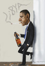 Cartoon: Barack Obama (small) by Fred Makubuya tagged obama libya north africa war politics