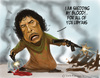 Cartoon: DICTATORS GONE CRAZY 1 (small) by Fred Makubuya tagged gadaffi,libya,arab,leaders,north,africa,war