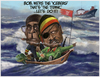 Cartoon: The Icebergs! (small) by Fred Makubuya tagged africa,democracy,politics,issues,mugabe,museveni,titanic