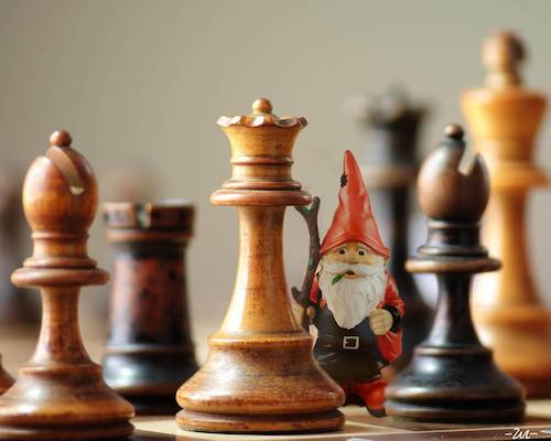 Cartoon: Chess-gnome (medium) by zu tagged chess,gnome