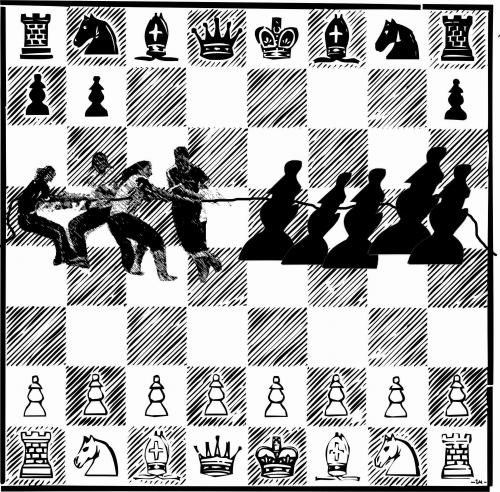 Cartoon: chess (medium) by zu tagged chess